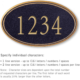 Salsbury 1432BGNS Signature Series Address Plaque