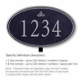 Salsbury 1432BSIL Signature Series Address Plaque