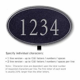 Salsbury 1432BSNL Signature Series Address Plaque