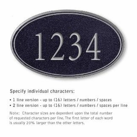Salsbury 1432BSNS Signature Series Address Plaque