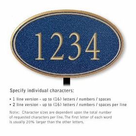 Salsbury 1432CGNL Signature Series Address Plaque