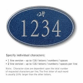 Salsbury 1432CSDS Signature Series Address Plaque