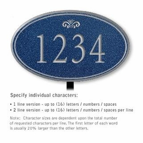 Salsbury 1432CSFL Signature Series Address Plaque
