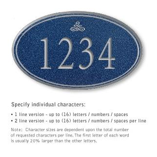 Salsbury 1432CSIS Signature Series Address Plaque