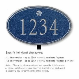 Salsbury 1432CSSL Signature Series Address Plaque