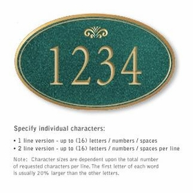 Salsbury 1432JGFS Signature Series Address Plaque