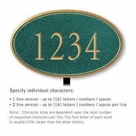 Salsbury 1432JGNL Signature Series Address Plaque