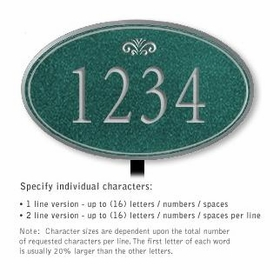 Salsbury 1432JSFL Signature Series Address Plaque