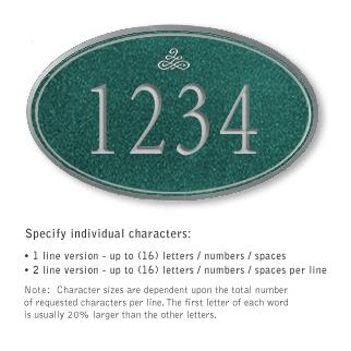 Salsbury 1432JSIS Signature Series Address Plaque
