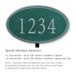 Salsbury 1432JSNL Signature Series Address Plaque
