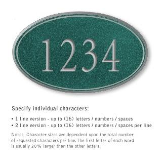 Salsbury 1432JSNS Signature Series Address Plaque