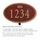 Salsbury 1432MGFL Signature Series Address Plaque