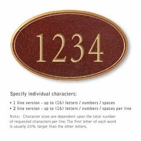 Salsbury 1432MGNS Signature Series Address Plaque