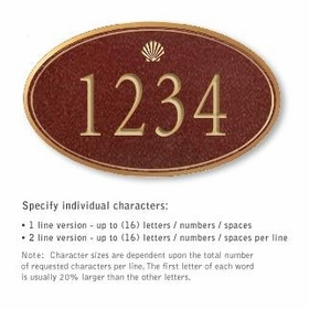 Salsbury 1432MGSS Signature Series Address Plaque