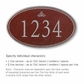 Salsbury 1432MSIS Signature Series Address Plaque