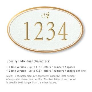 Salsbury 1432WGDS Signature Series Address Plaque