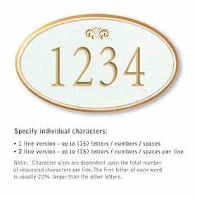 Salsbury 1432WGFS Signature Series Address Plaque