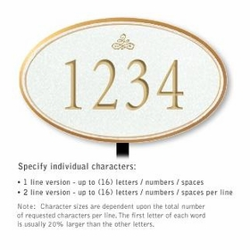 Salsbury 1432WGIL Signature Series Address Plaque