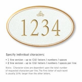 Salsbury 1432WGIS Signature Series Address Plaque