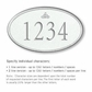 Salsbury 1432WSIS Signature Series Address Plaque