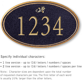 Salsbury 1431BGDS Signature Series Address Plaque