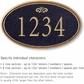 Salsbury 1431BGFS Signature Series Address Plaque