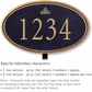 Salsbury 1431BGIL Signature Series Address Plaque