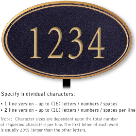 Salsbury 1431BGNL Signature Series Address Plaque