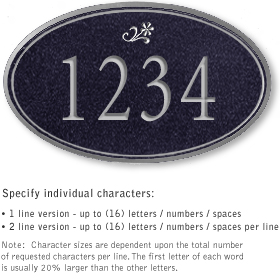 Salsbury 1431BSDS Signature Series Address Plaque
