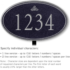 Salsbury 1431BSIL Signature Series Address Plaque