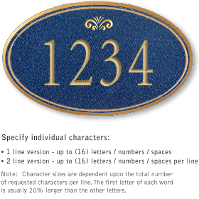 Salsbury 1431CGFS Signature Series Address Plaque
