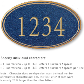 Salsbury 1431CGNS Signature Series Address Plaque