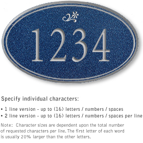 Salsbury 1431CSDS Signature Series Address Plaque