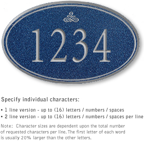 Salsbury 1431CSIS Signature Series Address Plaque