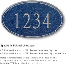 Salsbury 1431CSNS Signature Series Address Plaque