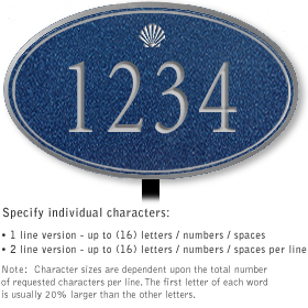 Salsbury 1431CSSL Signature Series Address Plaque