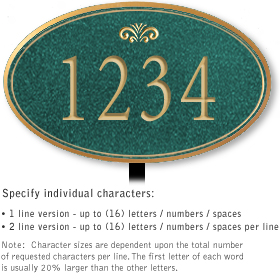Salsbury 1431JGFL Signature Series Address Plaque