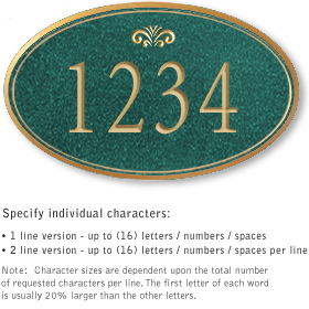 Salsbury 1431JGFS Signature Series Address Plaque