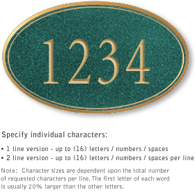 Salsbury 1431JGNS Signature Series Address Plaque