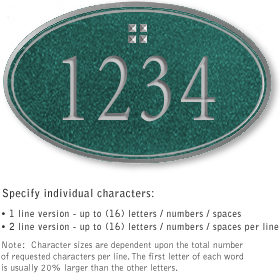 Salsbury 1431JSGS Signature Series Address Plaque