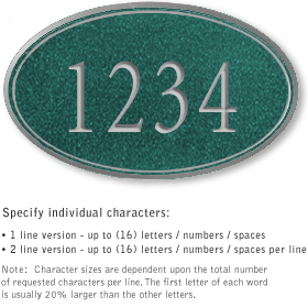 Salsbury 1431JSNS Signature Series Address Plaque