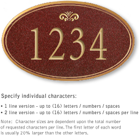 Salsbury 1431MGFS Signature Series Address Plaque
