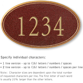 Salsbury 1431MGNS Signature Series Address Plaque