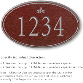 Salsbury 1431MSIS Signature Series Address Plaque