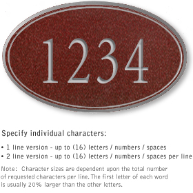 Salsbury 1431MSNS Signature Series Address Plaque
