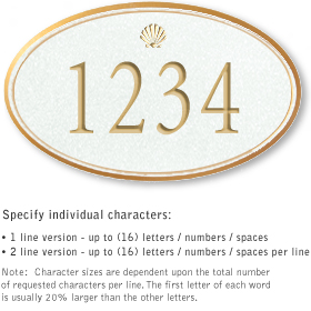 Salsbury 1431WGSS Signature Series Address Plaque