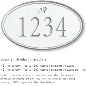 Salsbury 1431WSDS Signature Series Address Plaque