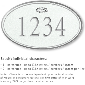 Salsbury 1431WSFS Signature Series Address Plaque