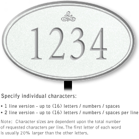 Salsbury 1431WSIL Signature Series Address Plaque