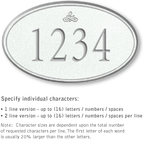 Salsbury 1431WSIS Signature Series Address Plaque